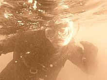 Diver Don turned sepia